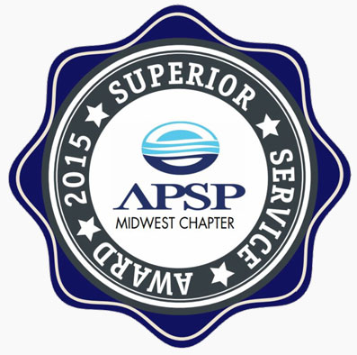 Superior Pool and Spa Service Award for A1 Pools in Wisconsin